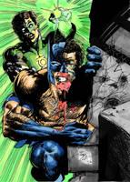 Batman and Green lantern. by tonydax