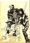 Wolverine Cyclop Cybernaute and Psylock.