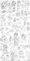 Undertale Sketchdump 2 (SPOILERS) by REDXVSROBIN