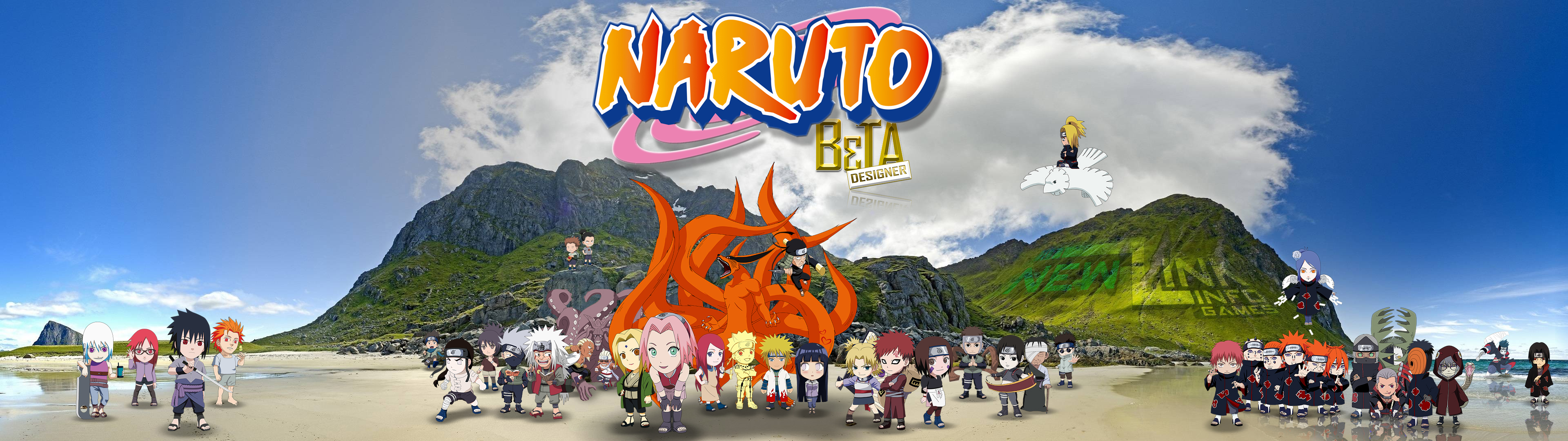 Naruto Chibi O3 Wallpaper Dual Monitor Full Hd By Newlinkgamesdf On Deviantart