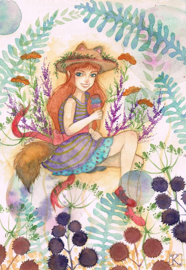 Foxgirl by klacenklai
