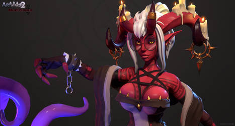 Ezri the Librarian Demoness - Banner