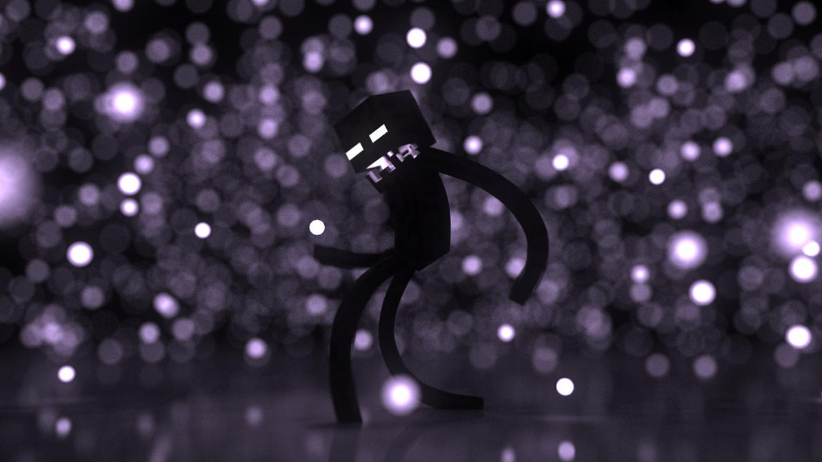 Minecraft Wallpaper - Enderman World by Victim753