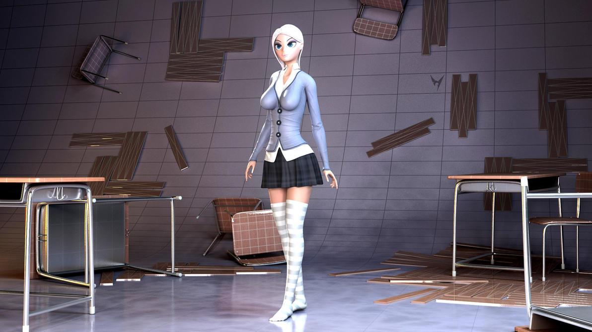 Girl in Uniform by Victim753