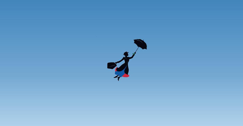 Mary Poppins Minimalist Wallpaper 3 By Chrisaloo