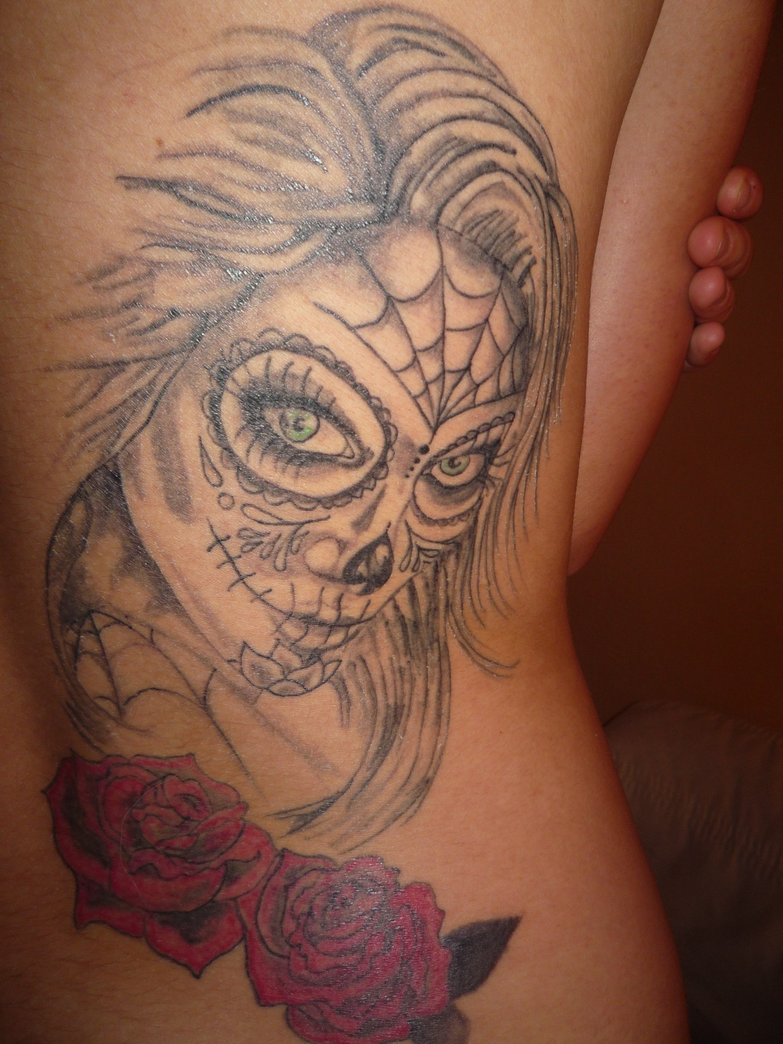 mexican death tattoo by ciastekn1 on deviantart. Black Bedroom Furniture Sets. Home Design Ideas
