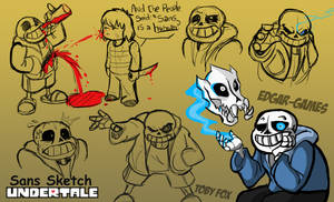 Sans Sketch// UNDERTALE by Edgar-Games