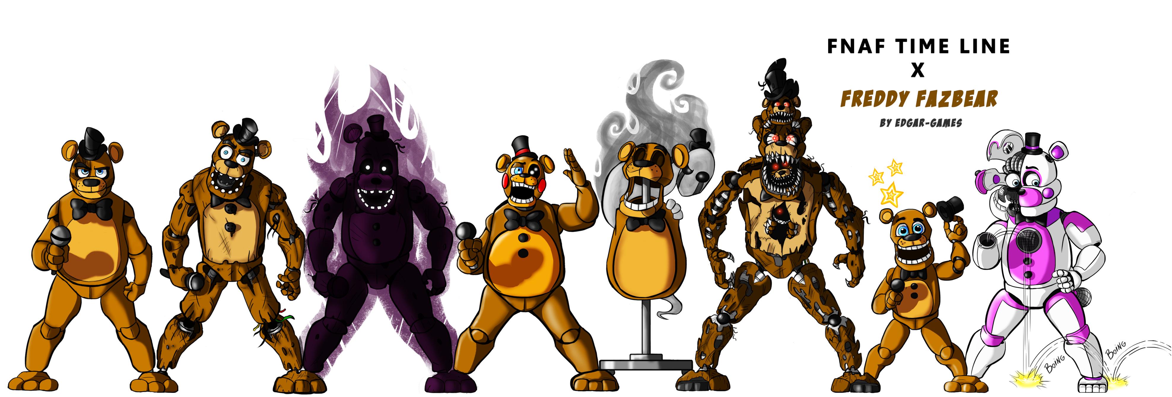 Freddy Fazbear Fnaf Time Line By Edgar Games On Deviantart