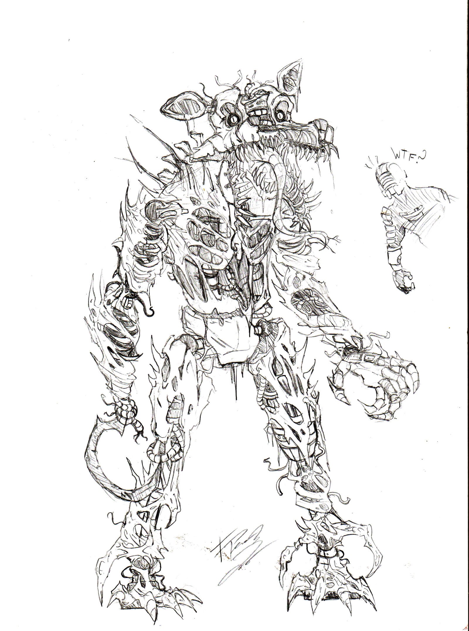 It is a graphic of Wild Nightmare Foxy Drawing