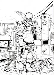 The ENGINEER TF2 (INK) by Edgar-Games
