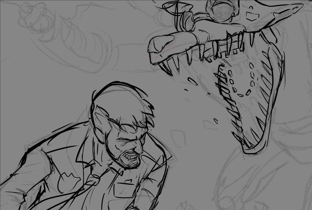 Wip//Foxy killing nightguard again by Edgar-Games