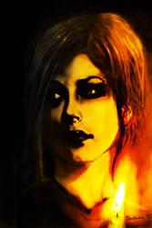 Avril in the dark.
