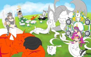 Battle Cats by Guryfrog