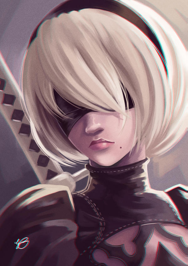 2b From Nier Automata By Guryfrog On Deviantart