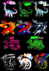Dinosaurs Adoptables~OPEN~10/11