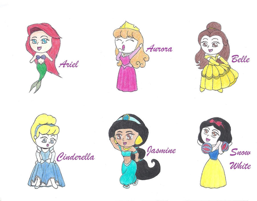 Gallery For gt Cartoon Disney Princesses Drawings