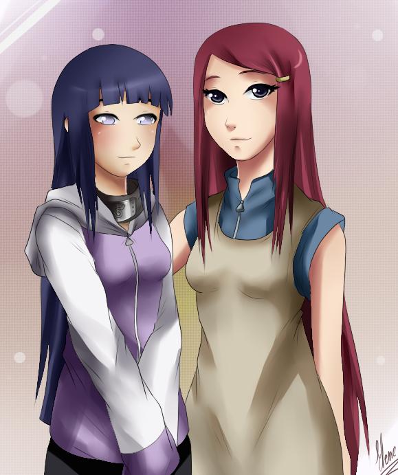 CM:Hinata and Kushina by xXUnicornXx