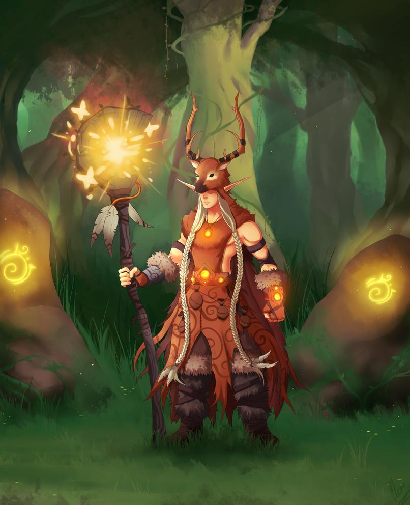 Sylvan-Druid Elder by xXUnicornXx