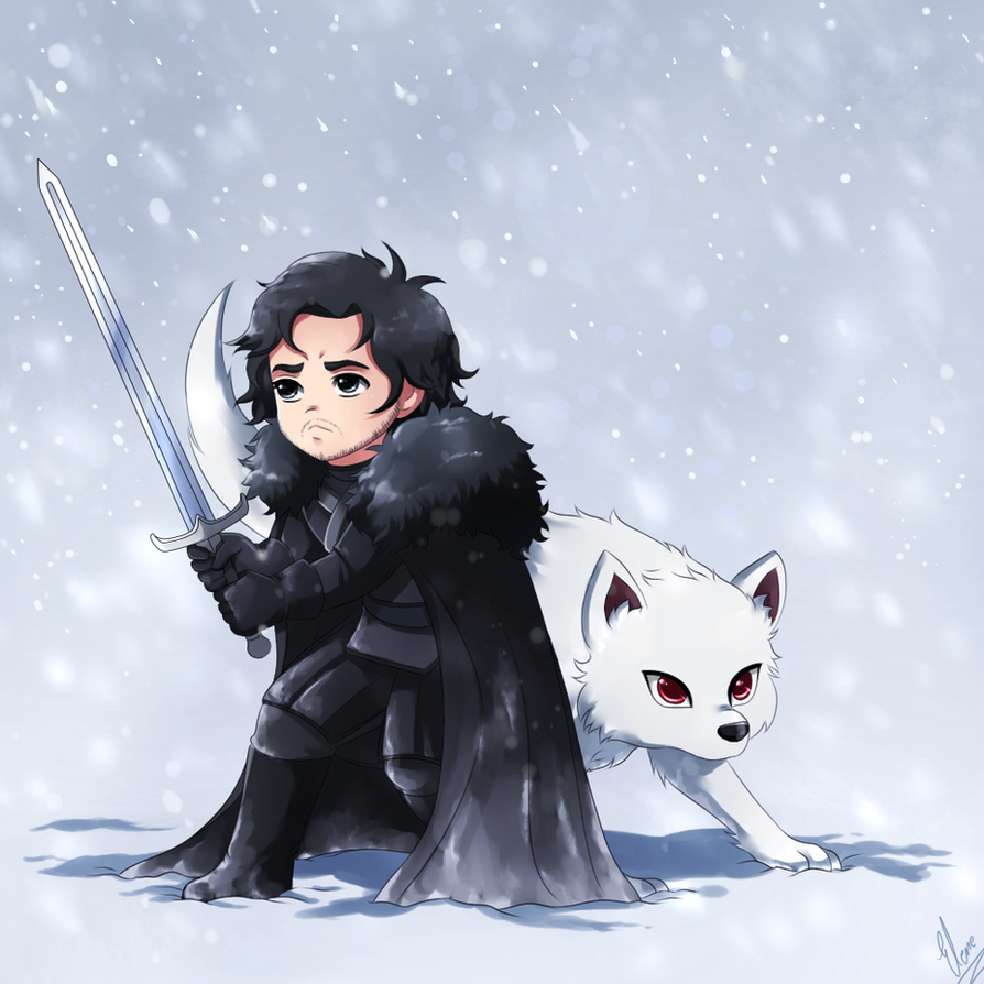jon snow and ghost by xxunicornxx on deviantart