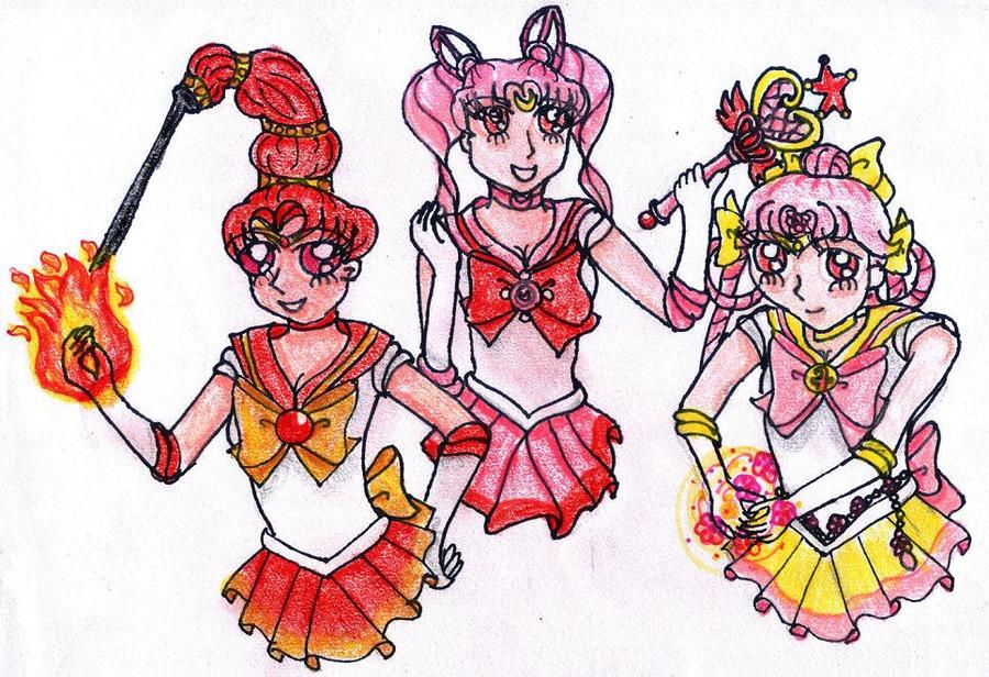 HiC Senshi Trio by TheAnomally