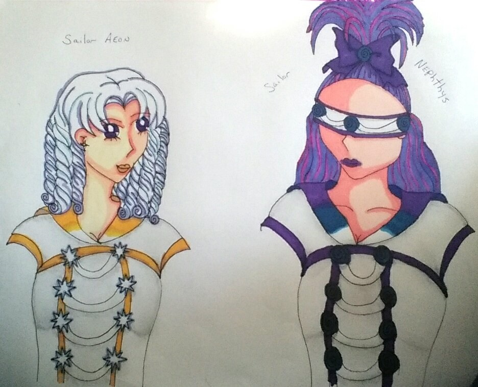 Sailor Aeon and Sailor Nephthys by TheAnomally