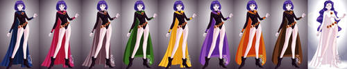 Senshi Maker Raven's Forms by TheAnomally