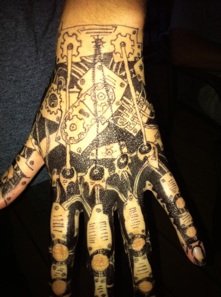 Mechanical hand art - photo#20