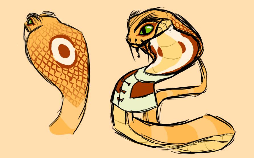 Cartoonimation New Zodiac Design Snake