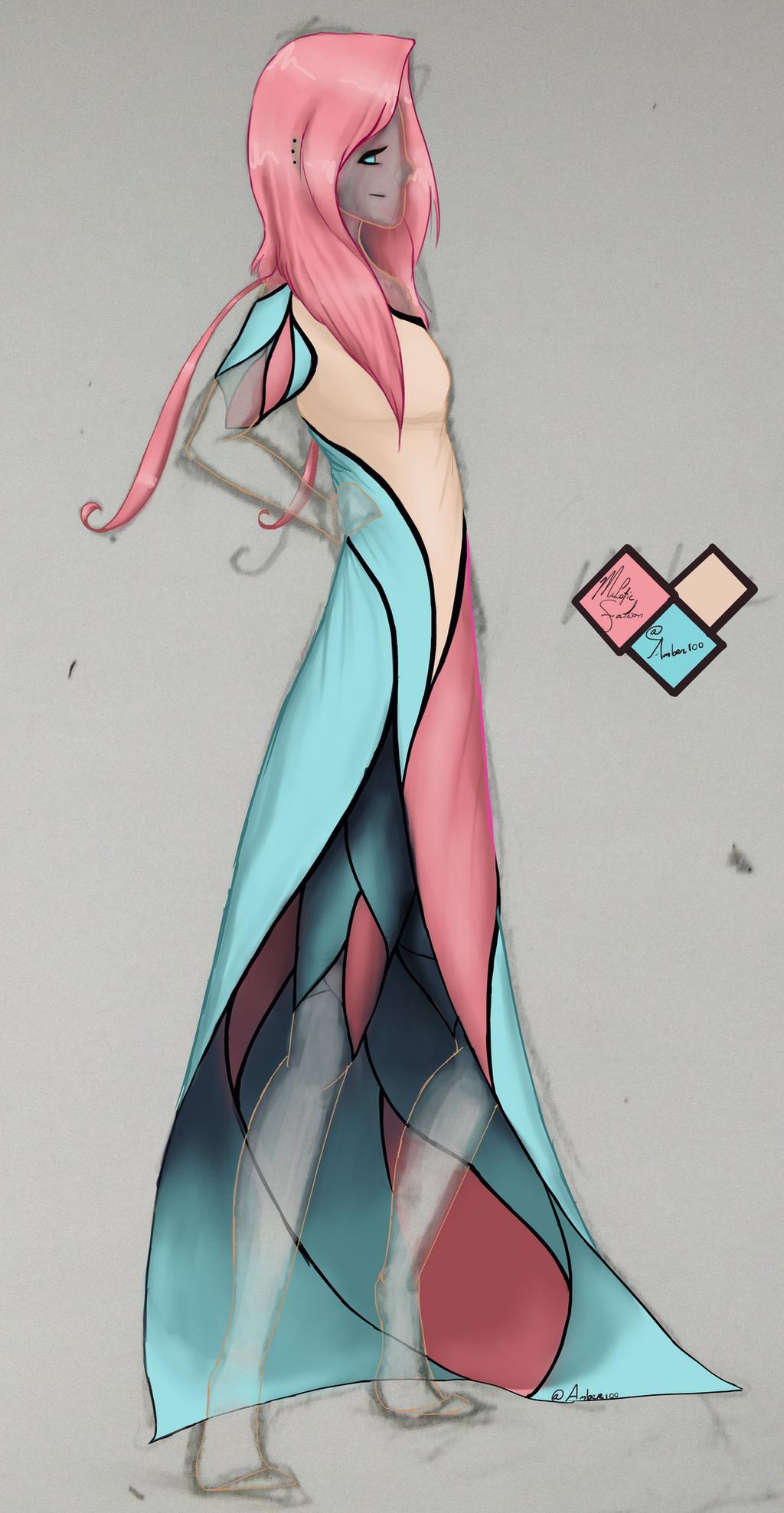 Pokemon Milotic Dress Design By Amber100 On Deviantart