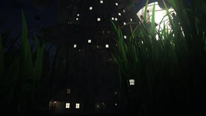 Tree Civilization Night Scene by Panico747