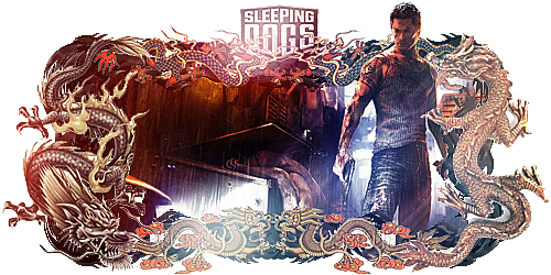 Sleeping Dogs Sign by Panico747
