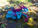 Terrible Terror crochet dragon