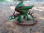 Terrible Terror crochet dragon 2 - green and brown