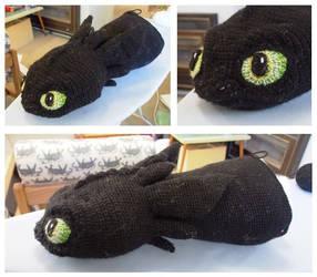 Crochet toothless  terrible terror progress part 1