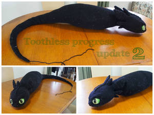 Crochet Toothless Progress 2