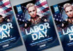Labor Day Flyer Template by lobaide