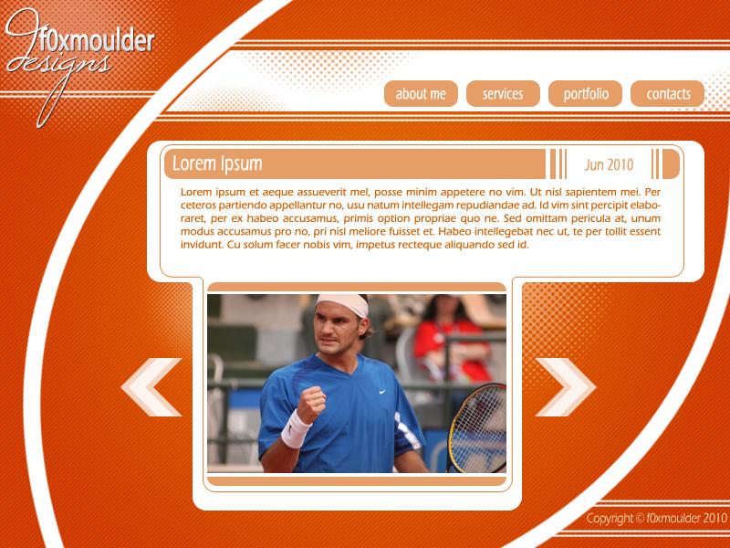Web page Layout by f0xmoulder on DeviantArt