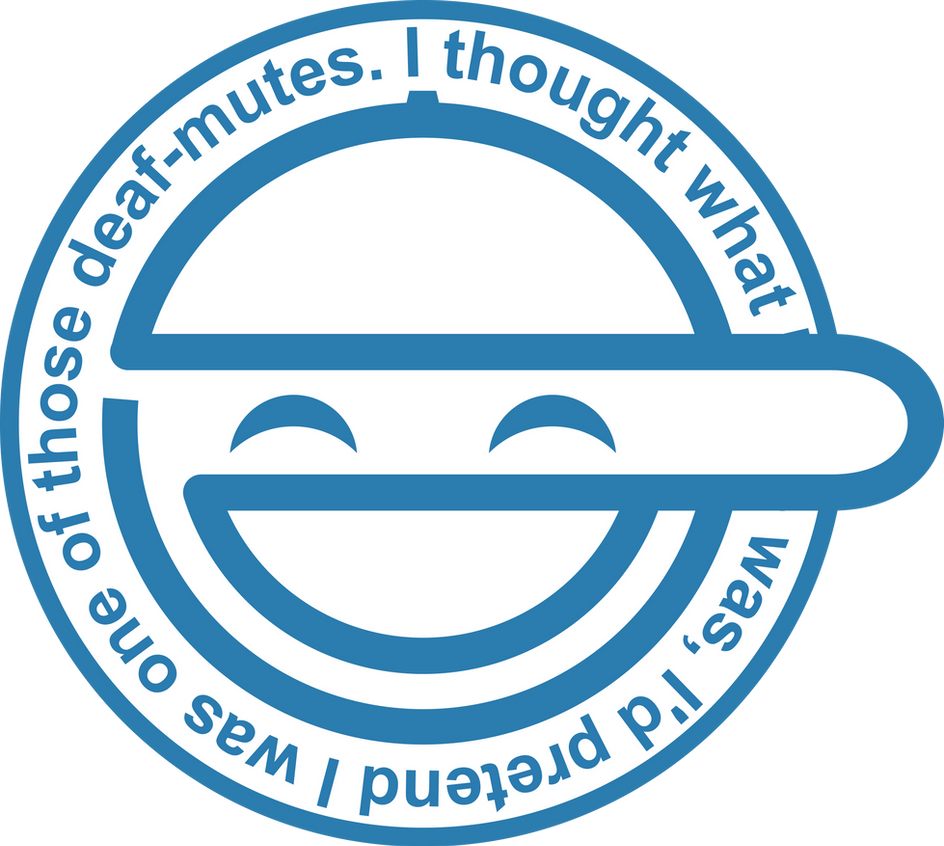 Laughing Man Logo By Aggressive Vector