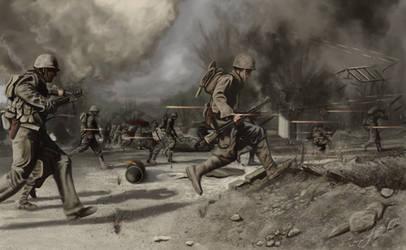 Crossing the battlefield