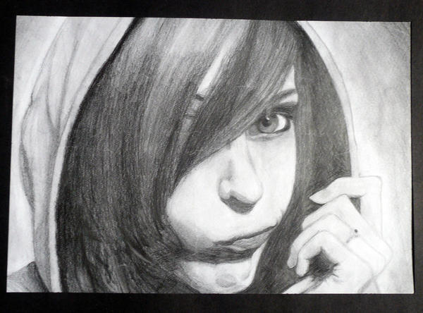 Self Portrait, Pencil by KrystalTrinity