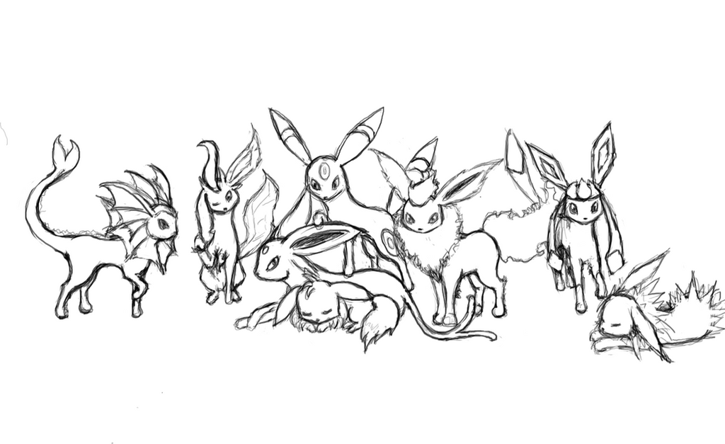 eevee evolutions coloring pages printable - photo#9