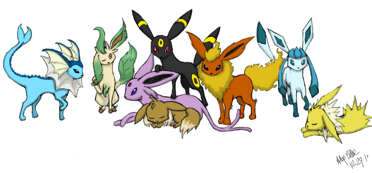 Coloring Pages Eevee Evolutions
