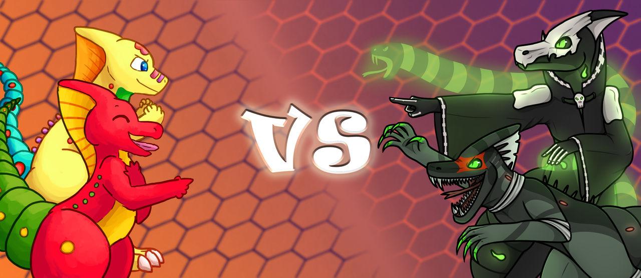 Silly VS Spooky Splashart by LogosLibrary