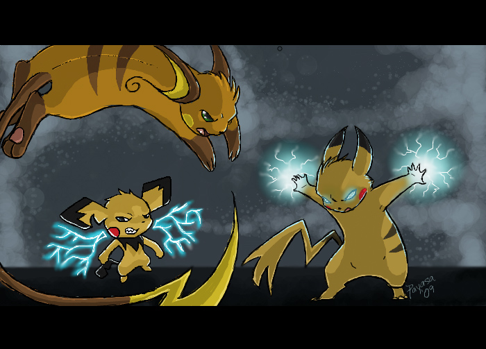 Amira Maghni Evolution_Stand_Off__Pikachu_by_Payasa