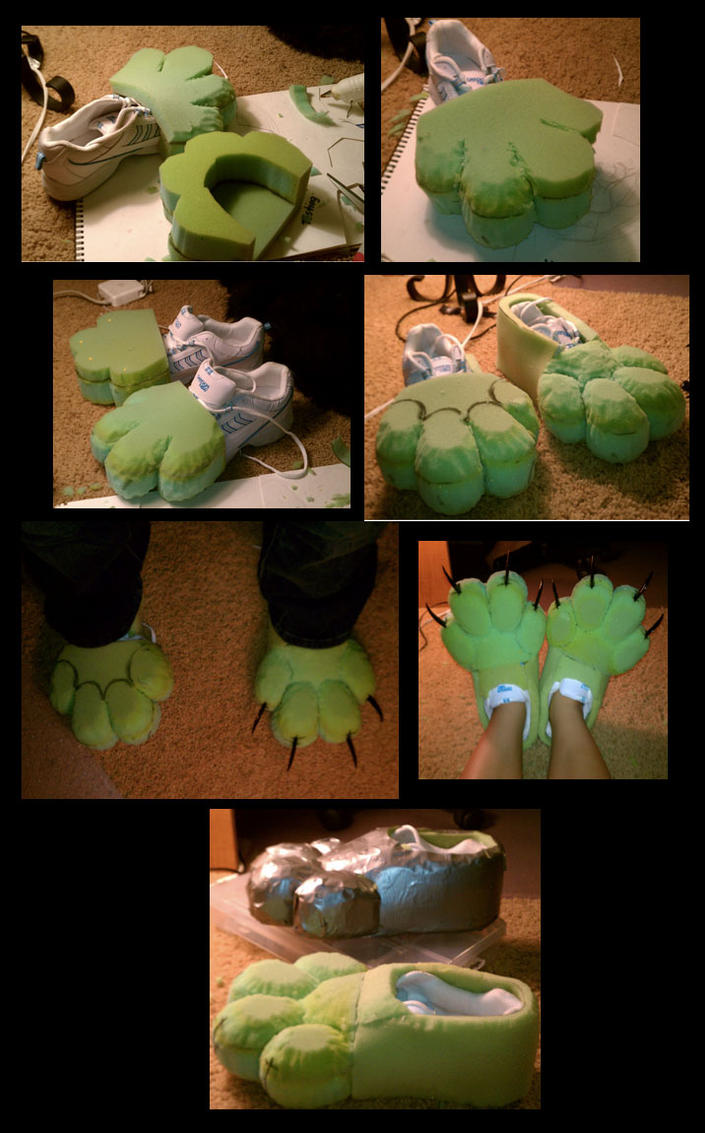 Fursuit Feet WIP by Payasa on DeviantArt