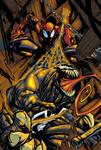 venom spiderman colour