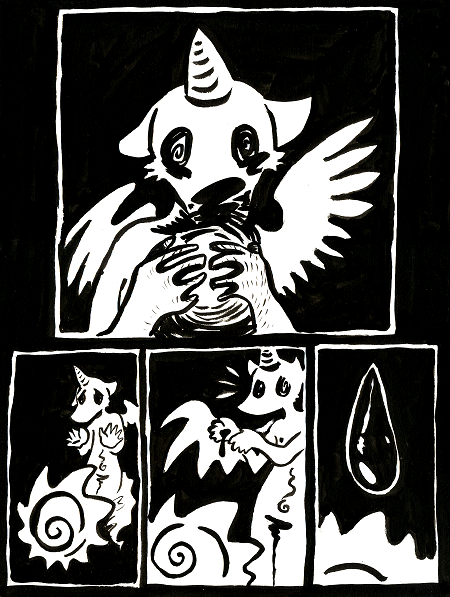 Good Little God page 1.6 by skeletonzoo