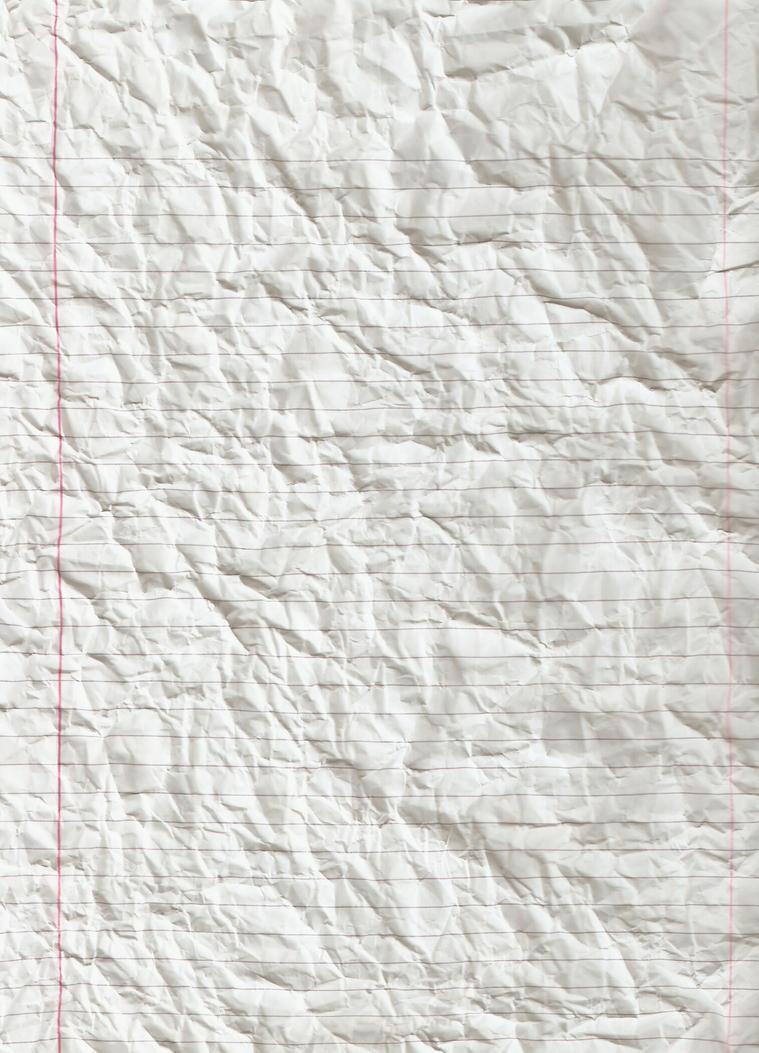 Crumpled Notebook Paper Wallpaper