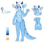 River Dragon ADOPT [CLOSED] by meowthatsme