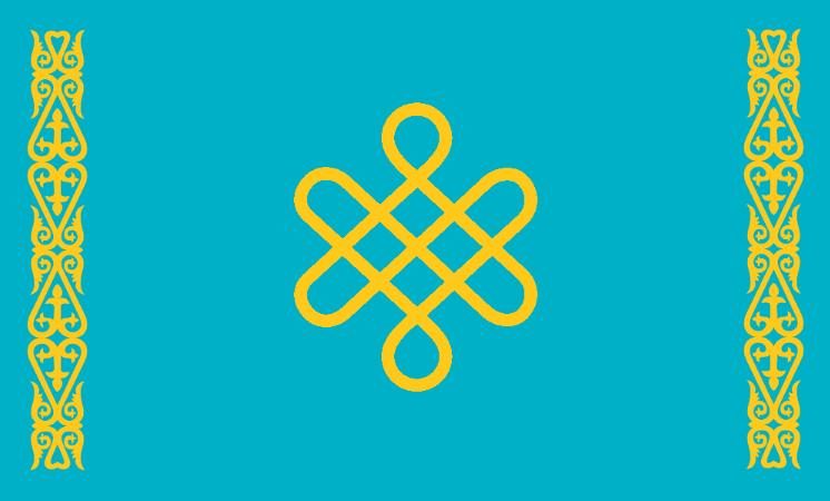 Flag: New Kazakh Khanate by Void-Wolf
